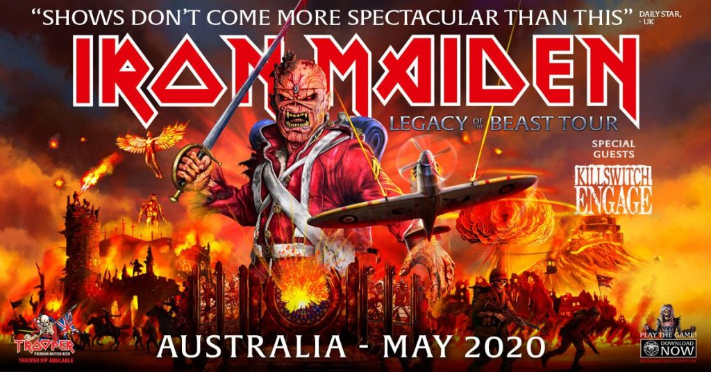 Iron Maiden Tour 2020.Iron Maiden Announces 2020 Australian Tour Maximum Volume